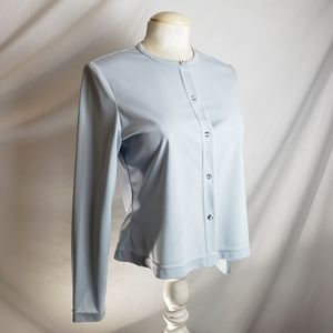 JS Collections rhinestone button down blouse
